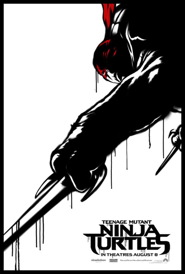 TMNT 2014 Poster Raphael