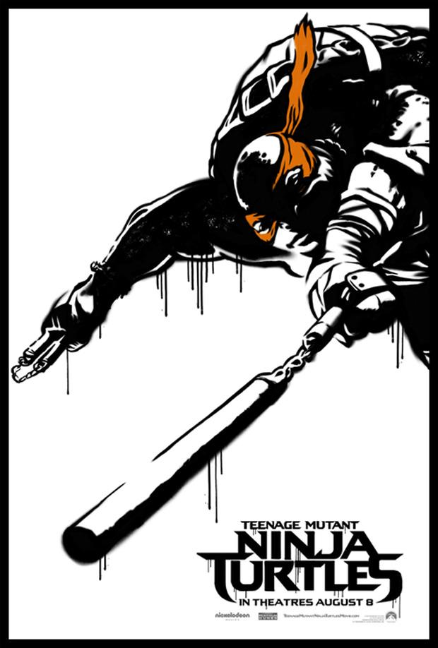 TMNT Reboot Poster Michaelangeo