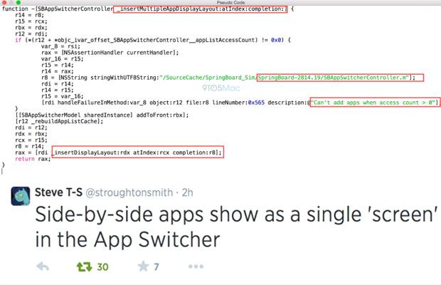 iOS 8 Multi-Screen Code