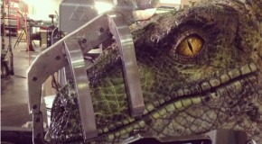 """Jurassic World"" On-Set Photo Teases First Look at Raptor"