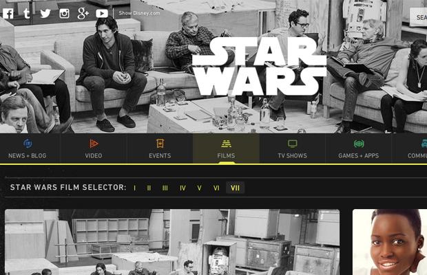 Star Wars website