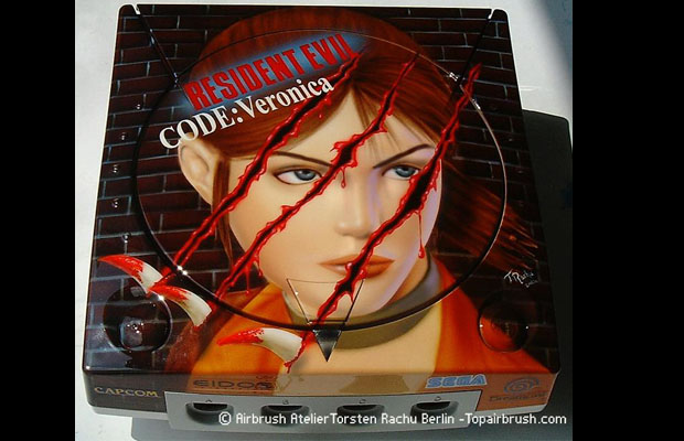 Dreamcast Top-Airbrush Editions (Resident Evil Code Veronica)