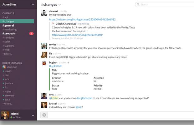 Slack startup