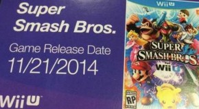 Leaked Pre-Order Card Reveals Super Smash Bros. for Wii U Release Date