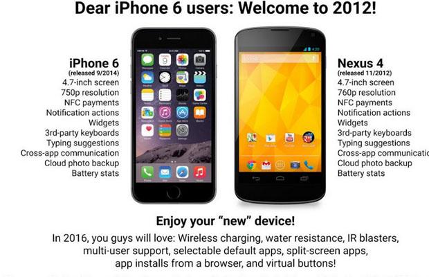 iPhone 6 Google Nexus 5
