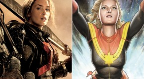 "Emily Blunt Doesn't Know ""Where the Hell"" Captain Marvel Talks Are Coming From"