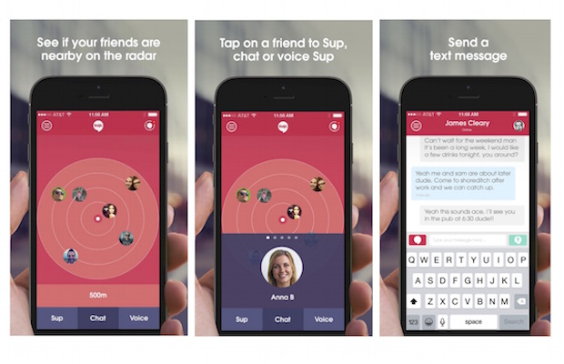 New Sup App Shows Nearby Friends On Radar