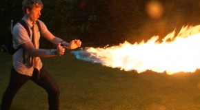 Mad Scientist Engineers a Wrist-Mounted Flamethrower